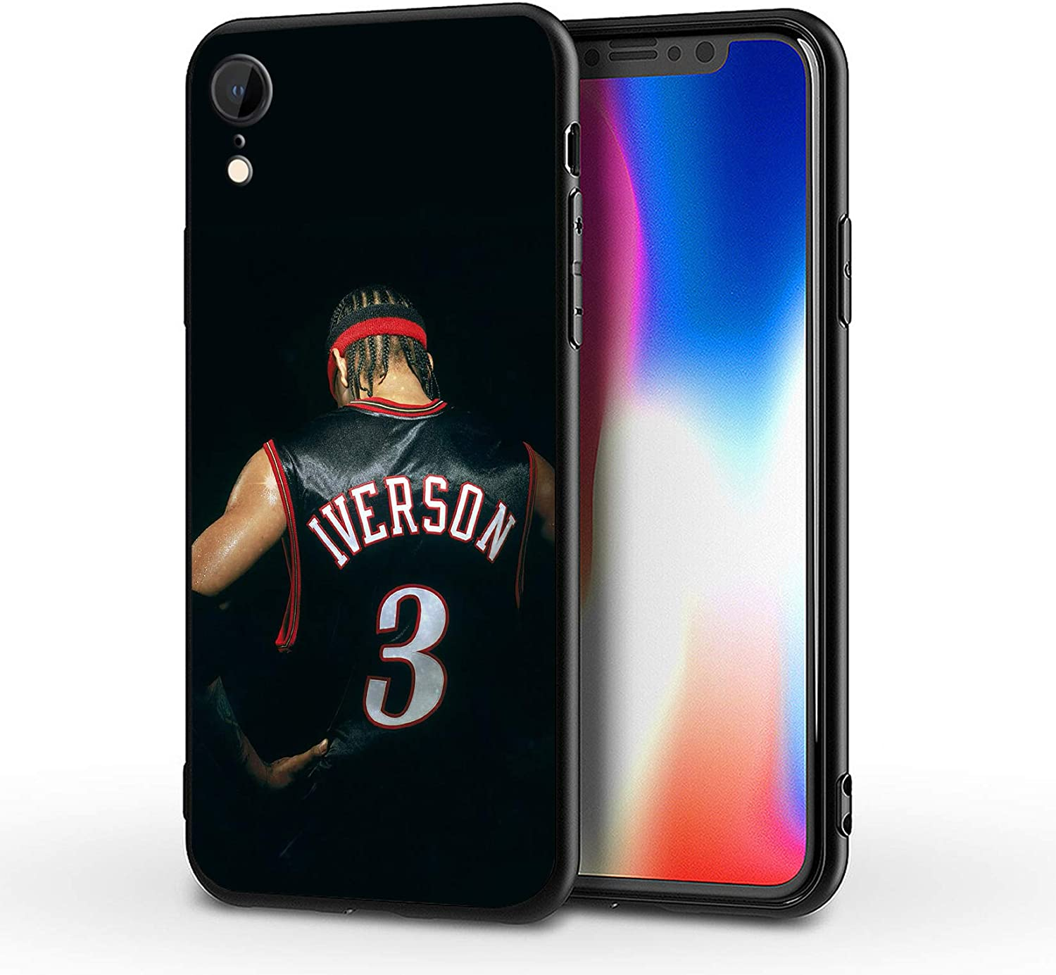 SUPTIIN iPhone XR Case,Basketball Star Protective Shockproof Anti-Scratch Soft Bumper Cases (Iverson)
