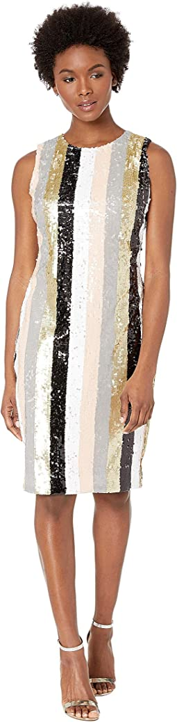 Striped Sequin Sheath
