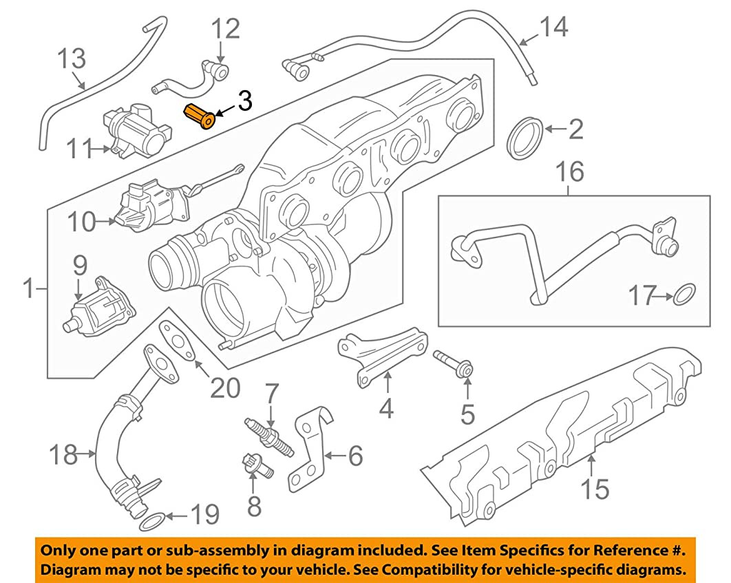 BMW (18 40 7 502 196) Exhaust Flange Nut