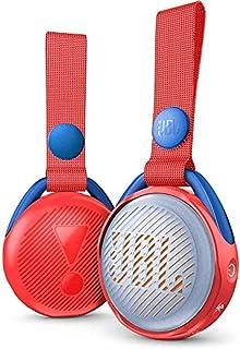 JBL JR Pop Mini-Boombox voor kinderen, rood, popiger, waterdichte bluetooth-luidspreker met ingebouwde lichtmotieven, tot ...