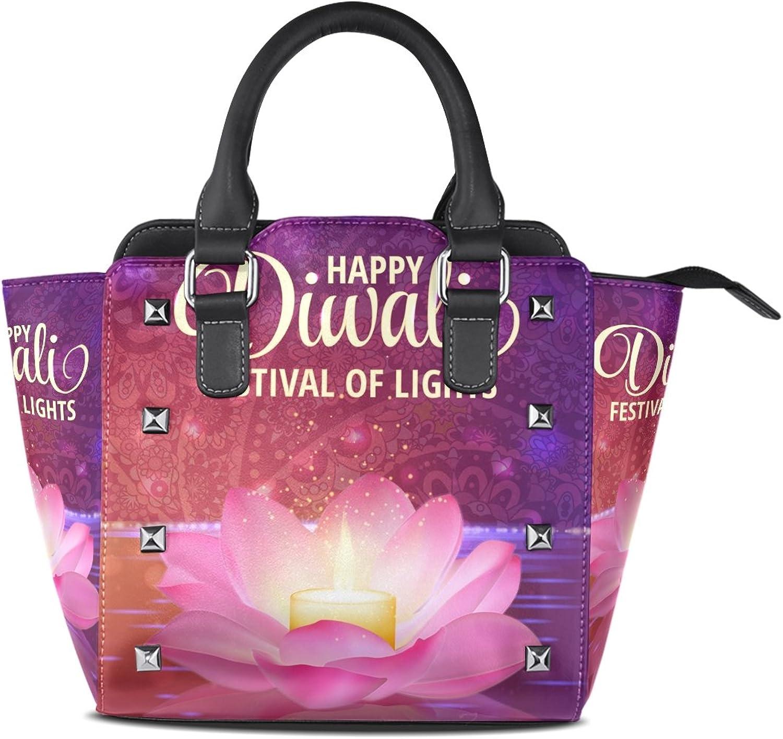 My Little Nest Women's Top Handle Satchel Handbag Happy Diwali Ladies PU Leather Shoulder Bag Crossbody Bag
