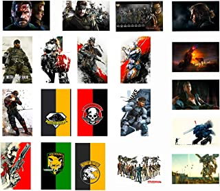 GTOTd Stickers for Metal Gear Solid 20-Pcs, Sticker Decals of Vinyls for Laptop, Water Bottle, WindowGift, Teens, Cars, Collection, Skate Board etc.