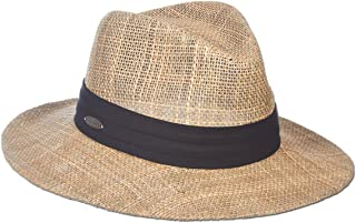 Dos Sombras Matte Seagrass Straw Safari Sun Hat with 3-Pleat Ribbon Band