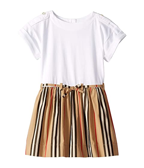 2338801a16561 Burberry Kids Rhonda Stripe Dress (Infant/Toddler) at Luxury.Zappos.com