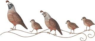 metal quail sculpture