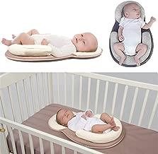 AMZT – Baby Bed Mattress - Newborn Sleep Positioner Infant Body Support Crib Bumper Nursing Pillow Anti Roll Sleeping Cushion (Beige)