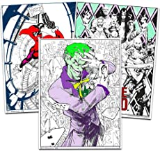 """Trends Int. Coloring Poster Set for Kids Adults -- 3 Giant Coloring Posters Featuring Joker Suicide Squad and Harley Quinn (18""""x24"""" Each)"""