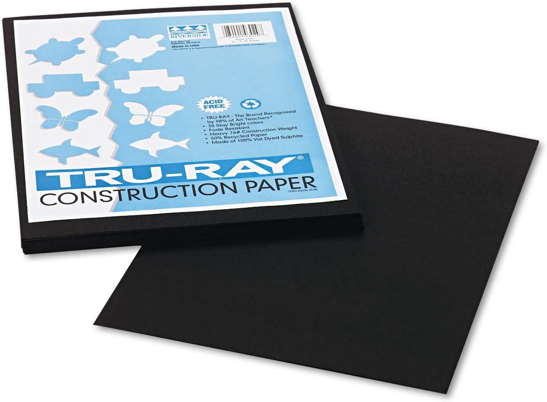 Pacon 103029 Tru-Ray Construction Austin Mall Paper 76 12 9 Tucson Mall x lbs Black