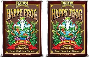 Fox Farm FX14047-2PK FOXFARM FX14047 pH Adjusted Happy Frog Organic Bags 2 CUFT, Brown Potting Soil