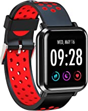 AQFIT Full Touch Multifunction Smart Watch W10 (Red-Black)