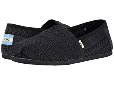 TOMS Alpargata (Black/Black Arrow Embroidered Mesh) Women
