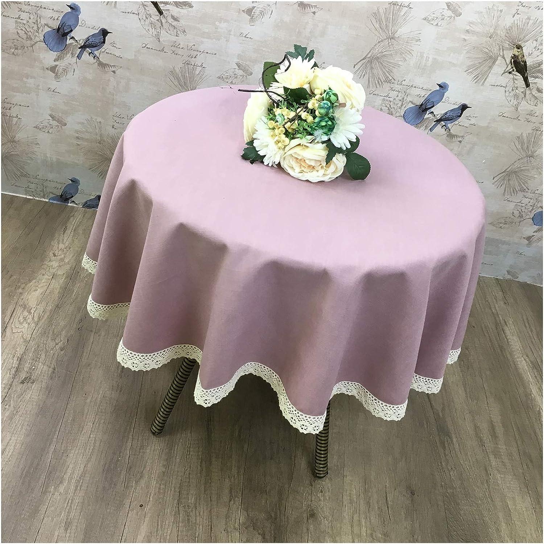 Tischdecke, rund, europäische Spitze, einfarbig, einfarbig, einfarbig, Dicke Baumwolle und Leinen, rund, Tischdecke, D, Round-190cm B07HH6WB34 5850b4