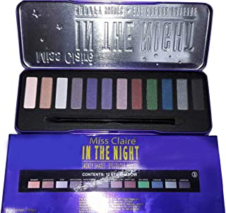 Miss Claire IN THE NIGHT Smokey Shades 12 Color Eyeshadow Palette (Set 3)