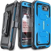 Galaxy J3 2017/J3 Prime/J3 Emerge/J3 Eclipse/Express Prime 2/Luna Pro/Amp Prime 2/Sol 2 Case,COVRWARE [Aegis] Built-in [Screen Protector] Heavy Duty Rugged Holster [Belt Clip][Kickstand] Blue