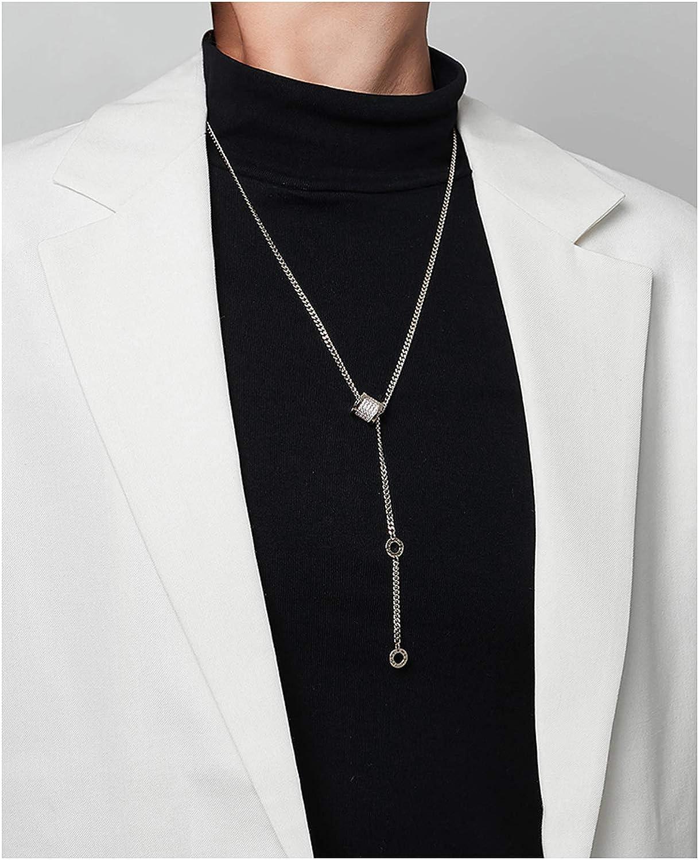 RXISHOP Woman's Pendant Necklace, 60.7cm Long Chain Artificial Zircon Y-Shaped Pendant Sweater Chain Mom Girlfriend Gift Necklace