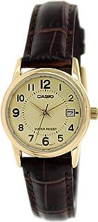 EAW-LTP-V002GL-9BUDF Casio Women's LTPV002GL-9B Brown Leather Quartz Watch