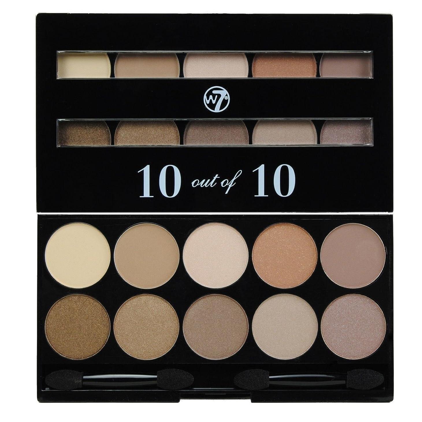 医療過誤中級蒸発(3 Pack) W7 Perfect 10 out of 10 Eyeshadow Palette - Browns (並行輸入品)