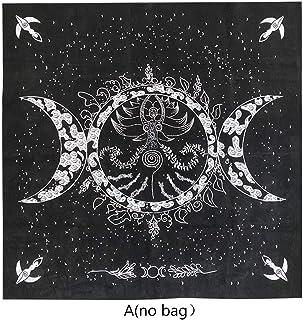 "kimtery祭壇タロットクロストリプル女神ムーンフェイズ占星術タロットテーブルクロス19""×19"""