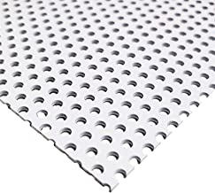 Online Metal Supply White Painted Aluminum Perforated Sheet, 0.040