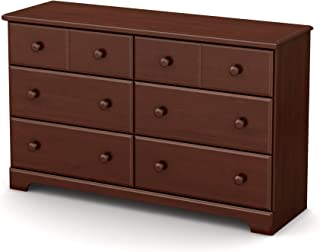 South Shore Summer Breeze 6-Drawer Dresser Royal Cherry