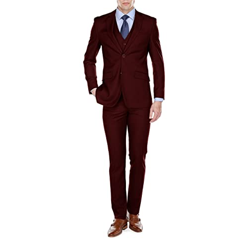 be02be8d2fdfa8 Braveman Mens Slim Fit 3 Piece Suit