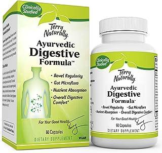 Terry Naturally Ayurvedic Digestive Formula - 60 Vegan Capsules - Promotes Bowel Regularity, Gut Microflora & Nutrient Abs...