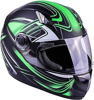 motorcycle helmet green