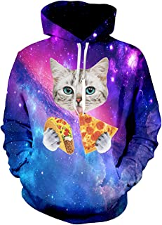 Leapparel Men 3D Printed Hoodies Pullover Funny Graphic Animal Sweatshirts Fleece Hoody