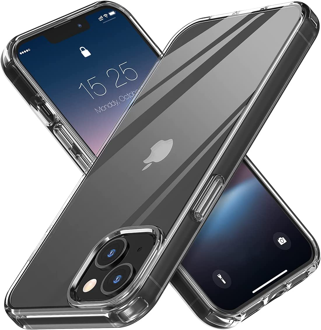 MATEPROX Compatible with iPhone 13 Mini case Clear Crystal Transparent Non-Yellowing Thin Shockproof Phone Cover for iPhone 13 Mini 5.4
