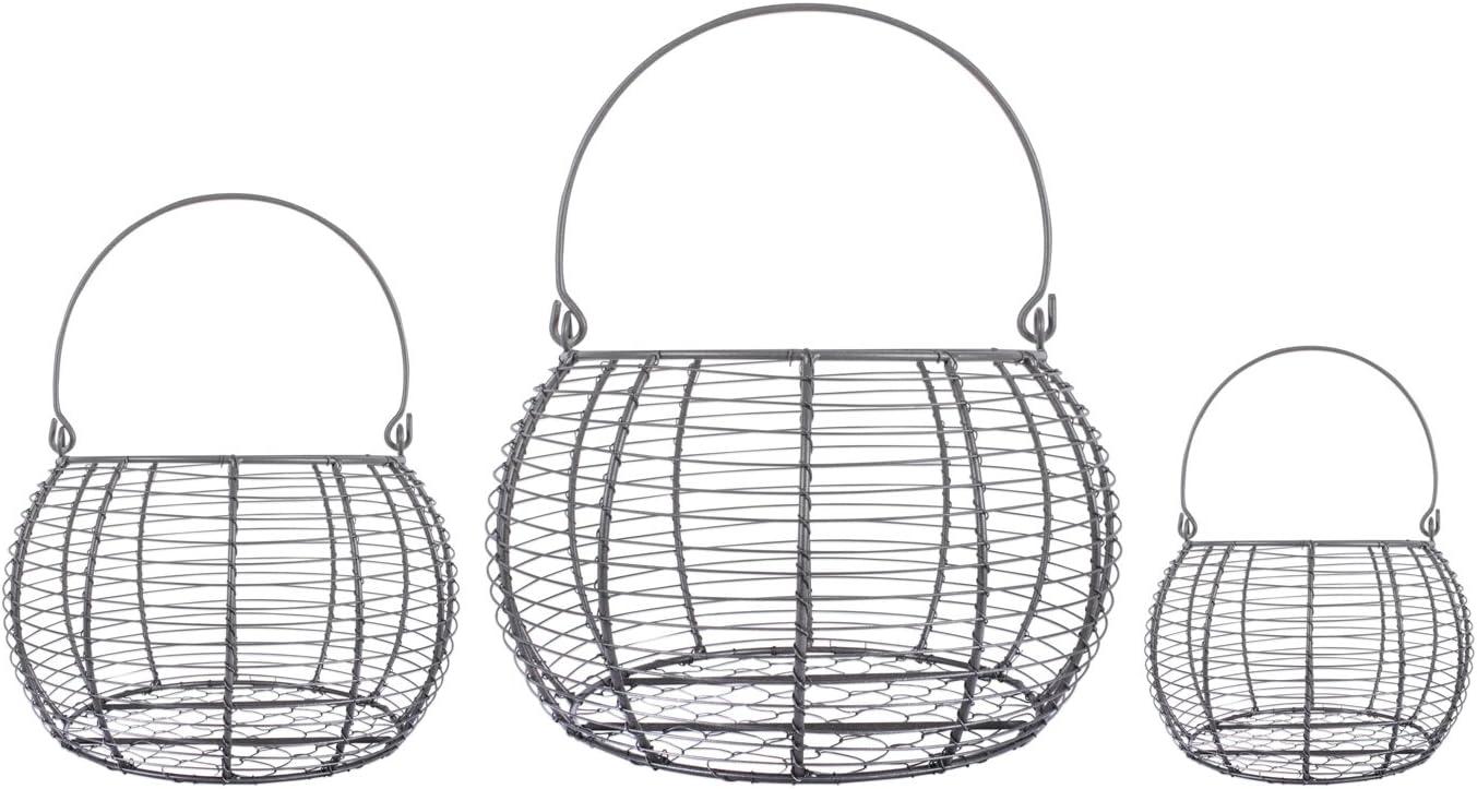 DII Rustic Farmhouse Tulsa Mall Egg Kitchen Max 67% OFF Baskets Metal Storage