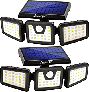 Solar Lights Outdoor, AmeriTop 800LM Wireless LED Solar Motion Sensor Lights Outdoor; 3..