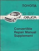 1987-1989 Toyota Celica Convertible Top Repair Shop Manual Original Supplement