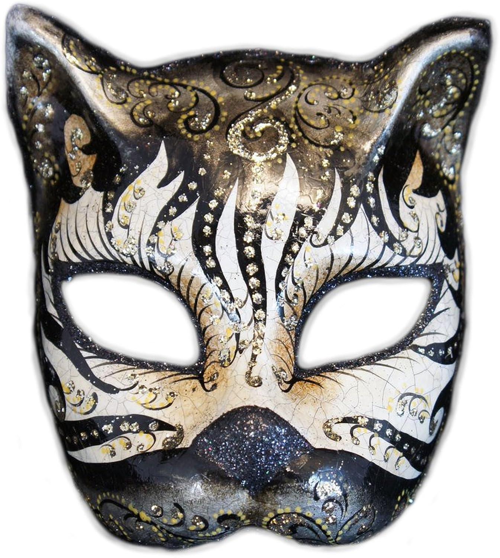 barato y de alta calidad Máscara Veneciana del Gato Gato Gato de la Mitad de la Cara Gatto Cabare para Las Mujeres (Negro)  marcas en línea venta barata