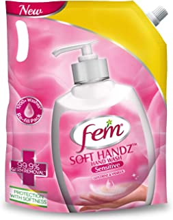 Fem Soft Handz Hand Wash Sensitive – Enriched with goodness of Vanilla & Glycerine - 1500 ml