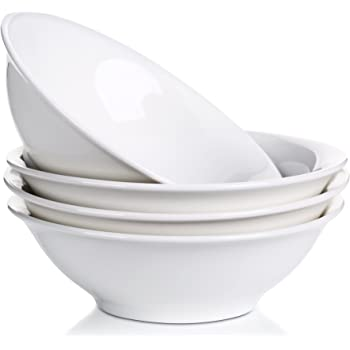 Salad and Desserts Sweese 1105 Porcelain Bowl 28 Ounce for Cereal White