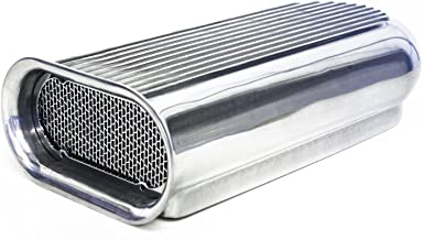 CCR Polished Aluminum Hilborn Hood Scoop Dual 4 Barrel Blower Tunnel Ram Street Rod