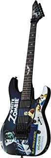 ESP LTD KH-WZ Signature Series Kirk Hammett White Zombie Electric Guitar with Case