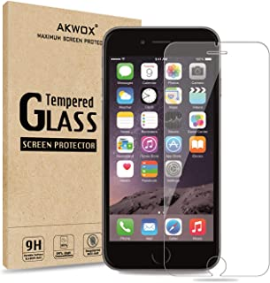 AKWOX (2-pack) Screen Protector for iPhone 8, 7, 6S, 6, Akwox [0.33mm High Definition Clear] Tempered Glass Screen Protect...