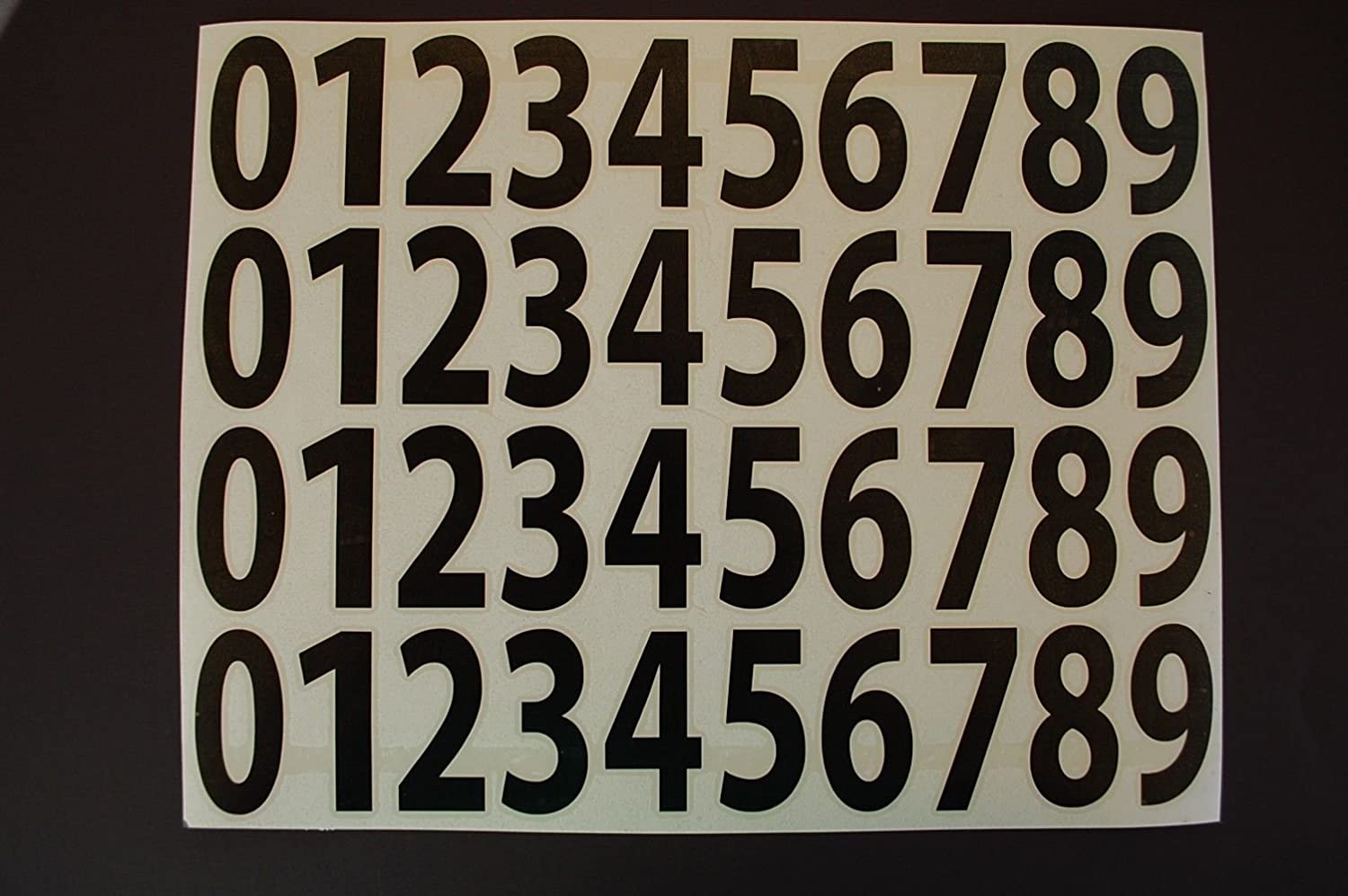 0-9 Numbers Vinyl Sticker Decals 2021 new Set of 2 Quantity limited Size 1 Pick 40 Color