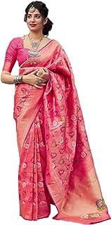 بلوزة ساري للنساء الهندية ذات طراز تقليدي تقليدي ناعم من حرير بناراسي مطبوع 5772