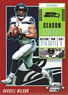 2018 Panini Contenders Optic Football Red #10 Russell Wilson 132/199 Seattle Seahawks