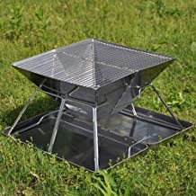 YFAH 2-en-1 de Barbacoa pozos Parrilla de carbón portátiles adecuados para Jardines domésticos, cocinar al Aire Libre barbacoas acampan yendo de excursión de Picnic