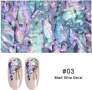 Artlalic 1 Sheet Shell Abalone Nail Art Sticker Gradient Mermaid Flakes Seaside Design Stickers Decals Adhesive