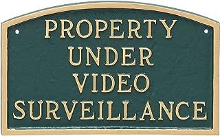 Montague Metal Products Arch Property Under Video Surveillance Statement Plaque, 5.5