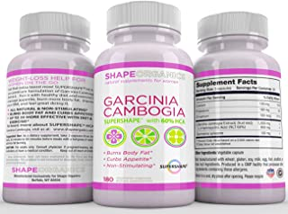 SAFE AND EFFECTIVE Natural Appetite Suppressant. Pure Garcinia Cambogia Extract. LOSE WEIGHT and KEEP IT OFF. 180 Capsules...