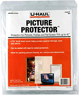 """U-Haul U-Haul Picture Protector - Foam Sleeve for Artwork, Pictures, Mirrors, TVs, Monitors up to 40"""" - 42"""" x 38"""""""