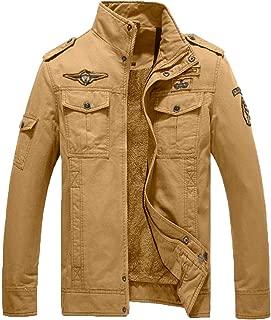 Men's Winter Cotton Military Jacket Thicken Fleece Parka Outwear Coats