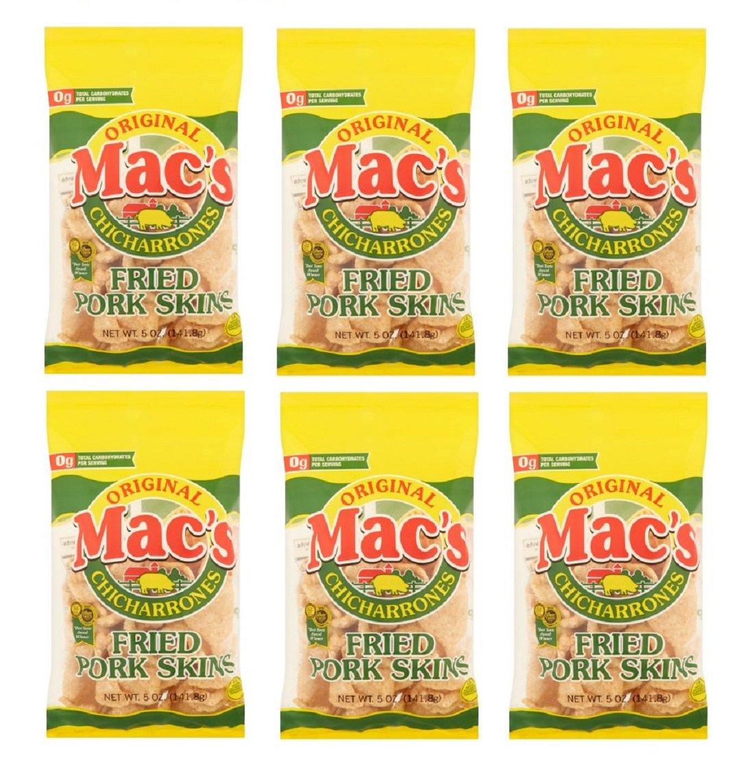 Mac's Chicharrones Original Fried Pork Skins 6 Nashville-Davidson Mall Pack oz Ranking TOP20 5 of