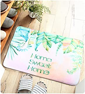 eyscar Floor Door Mat Entry Rugs Rug 31.5x19.7 Super Soft Thick Outdoor Indoor Entrance Doormat Carpets for Kitchen Dining Living Hallway Bathroom Anti-Slip Absorbent (Leaves)