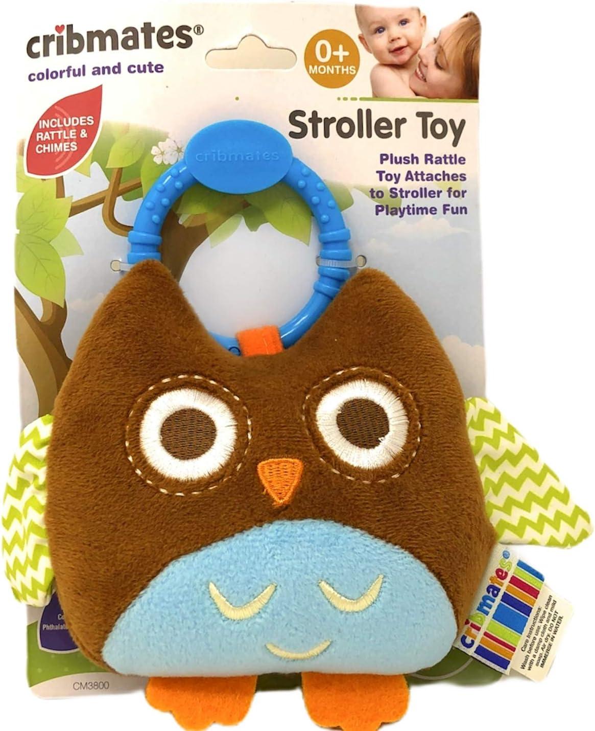 Cribmates Brown Owl Stroller Toy
